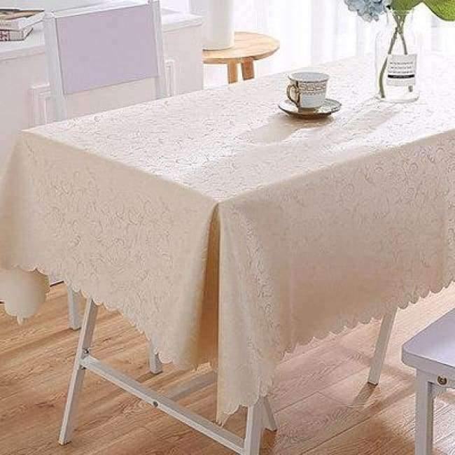 Waterproof Oilproof Table Cloth Wipe Clean Pvc Tablecloth Dining Kitchen Table Cover Protector Oilcloth Fabric Cover