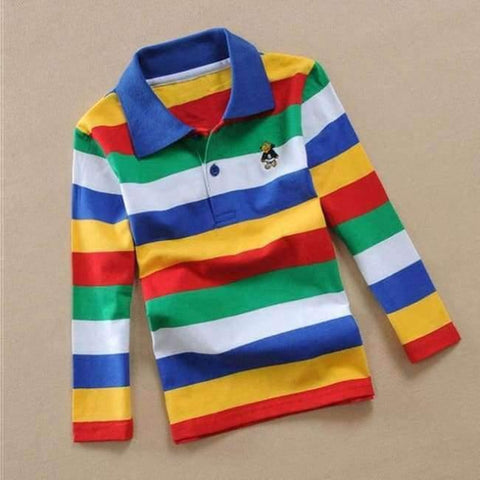 Image of Planet Gates as picture 6 / 3T Teenage Boys Shirt Autumn Children Clothing Fashion Tee Shirts Boys Cotton Tops Striped Kids Clothes 4 8 12 15Y