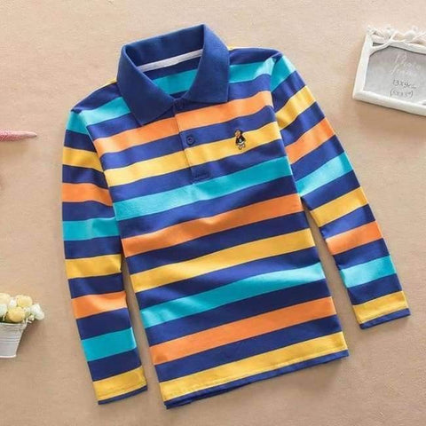 Image of Planet Gates as picture 7 / 3T Teenage Boys Shirt Autumn Children Clothing Fashion Tee Shirts Boys Cotton Tops Striped Kids Clothes 4 8 12 15Y