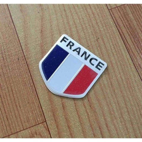 Image of Planet Gates Automobile Motorcycle Exterior Accessories Shield-shap France French National Flags Car Body Stickers