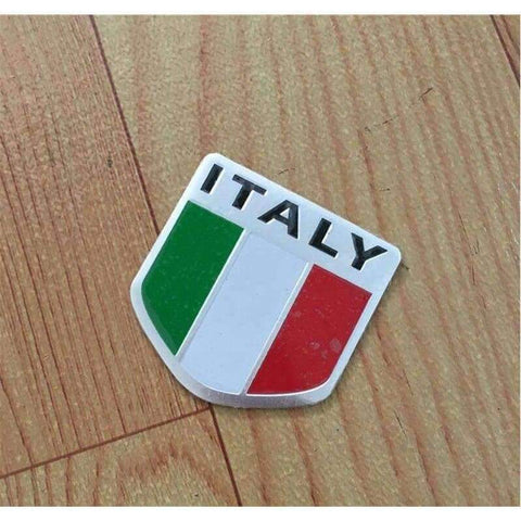Image of Planet Gates Automobile Motorcycle Exterior Accessories Shield-shap Italy Italian National Flags Car Body Stickers