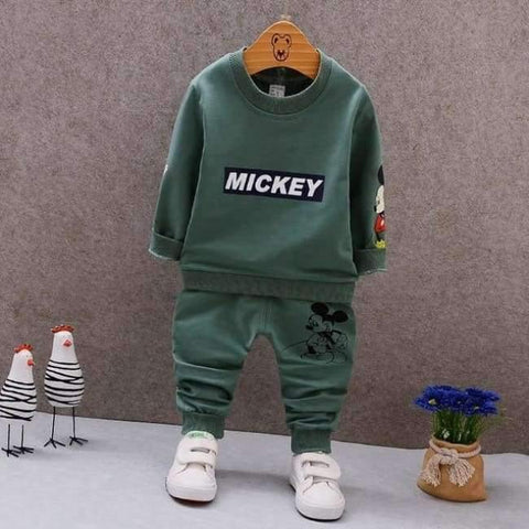 Planet Gates AX MQ2-2 green / 9M Spring Autumn Baby Boys Clothes Full Sleeve T-shirt And Pants 2pcs Cotton Suits Children Clothing Sets Toddler Brand Tracksuits