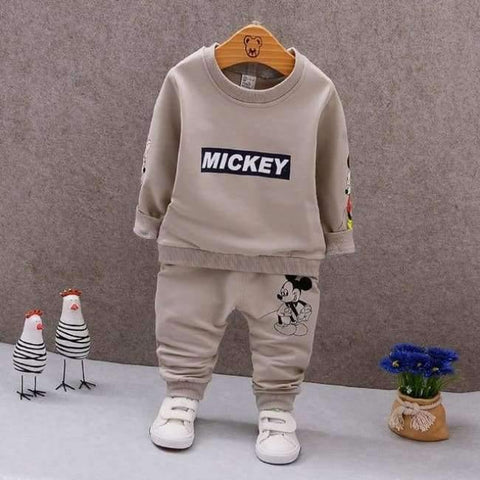 Planet Gates AX MQ2-2 khaki / 9M Spring Autumn Baby Boys Clothes Full Sleeve T-shirt And Pants 2pcs Cotton Suits Children Clothing Sets Toddler Brand Tracksuits