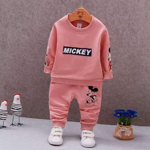 Planet Gates AX MQ2-2 pink / 9M Spring Autumn Baby Boys Clothes Full Sleeve T-shirt And Pants 2pcs Cotton Suits Children Clothing Sets Toddler Brand Tracksuits