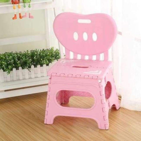 Planet Gates B Multifunctional folding stool plastic backrest portable home chair creative kindergarten small stool children's furniture