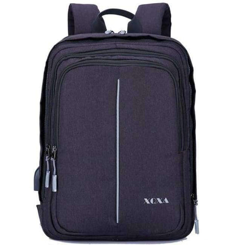 Image of Planet Gates Bags E Black / 15 Inches / Free Shipping XQXA Anti-theft Backpack with USB Charging Port and Earphones Prot 15.6-17.3 Inch Laptop Notebook Men Backpack 8608 8609 Basis