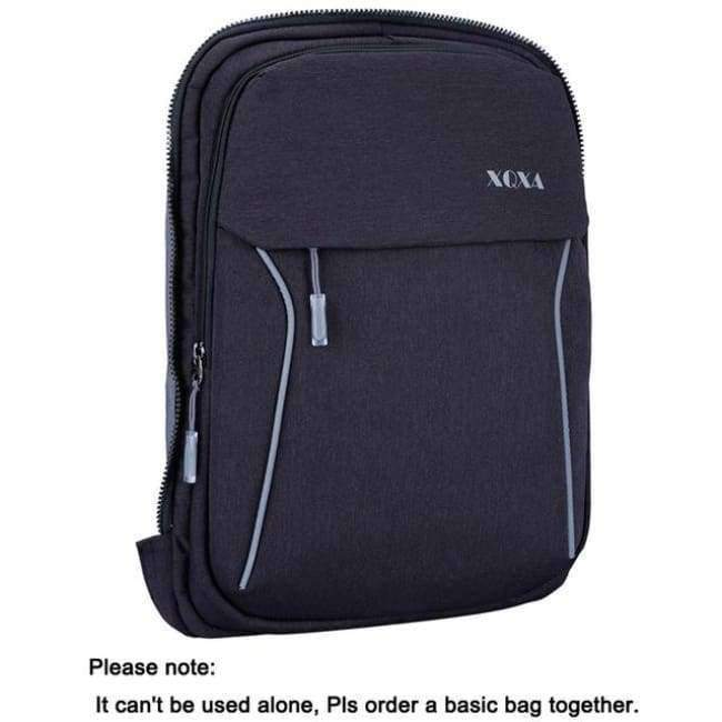 Planet Gates Bags F Pocket Black / 15 Inches / Free Shipping XQXA Anti-theft Backpack with USB Charging Port and Earphones Prot 15.6-17.3 Inch Laptop Notebook Men Backpack 8608 8609 Basis