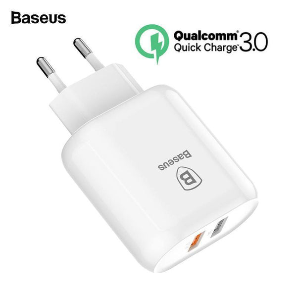 Baseus 23W Quick Charge 3.0 USB Charger For iPhone Samsung Xiaomi QC3.0 5V3A Fast Charging EU Travel Wall Mobile Phone Charger