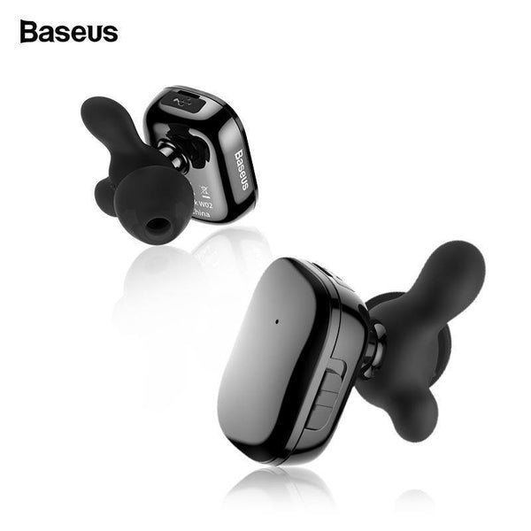 Baseus TWS Bluetooth Earphone For Phone In Ear Dual True Wireless Earbuds With Mic Intelligent Touch Handsfree Business Headset
