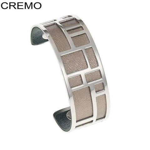 Image of Planet Gates BC0071701 Cremo Love Bracelets & Bangles Stainless Steel Bracelet Bijoux Femme Manchette Reversible Leather Cuff Pulseiras