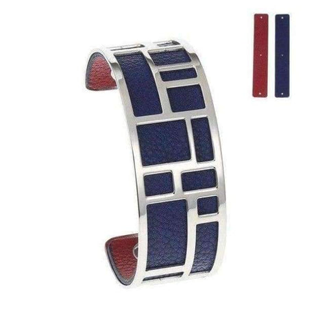 Image of Planet Gates BC0071707 Cremo Love Bracelets & Bangles Stainless Steel Bracelet Bijoux Femme Manchette Reversible Leather Cuff Pulseiras