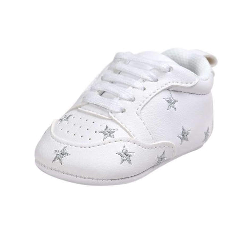 Image of Planet Gates Black / 1 Multiple Star Baby Girl Shoes first walkers Lace-up Fashion Baby Shoes For 0-18 Months