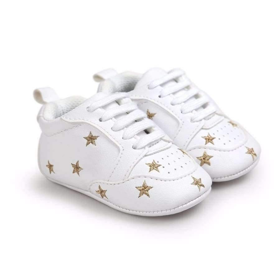 Planet Gates Black / 1 Multiple Star Baby Girl Shoes first walkers Lace-up Fashion Baby Shoes For 0-18 Months