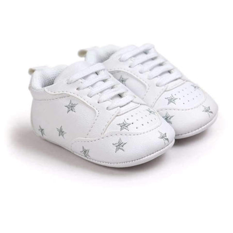 Image of Multiple Star Baby Girl Shoes first walkers Lace-up Fashion Baby Shoes For 0-18 Months