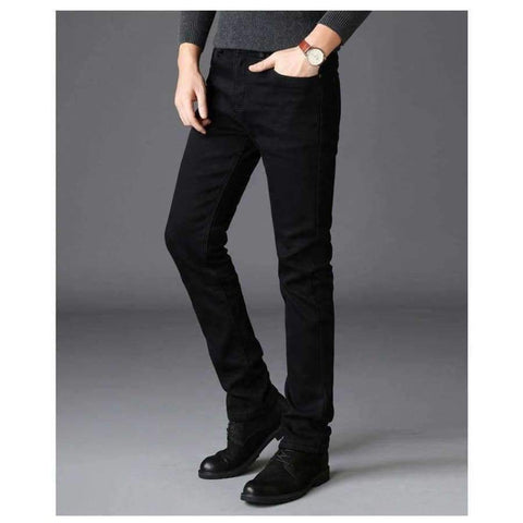Planet Gates Black / 28 Brands Jeans Trousers Men Clothes 2018 New Black Elasticity Skinny Jeans Business Casual Male Denim Slim Pants Classic Style