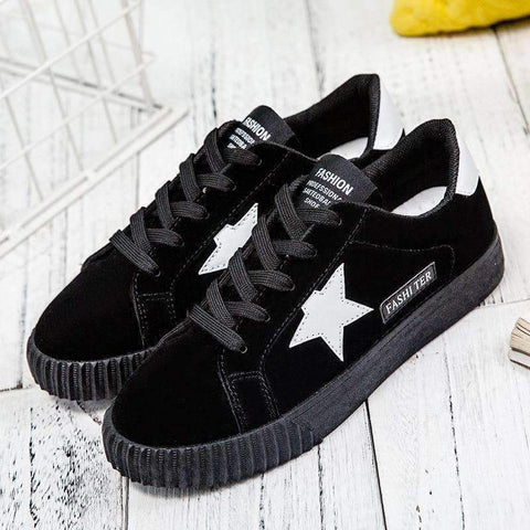 Image of Planet Gates black / 4.5 Autumn Fashion Platform Sneakers Women Trainers Pink Vulcanized Shoes Basket Femme Ladies Casual Shoes Flat Zapatillas Mujer