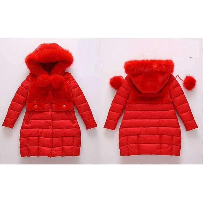 Planet Gates Black / 4 Winter Big Girls Warm Thick Jacket Outwear Clothes Cotton Padded Kids Teenage Coat Children Faux Fur Hooded Parkas P28