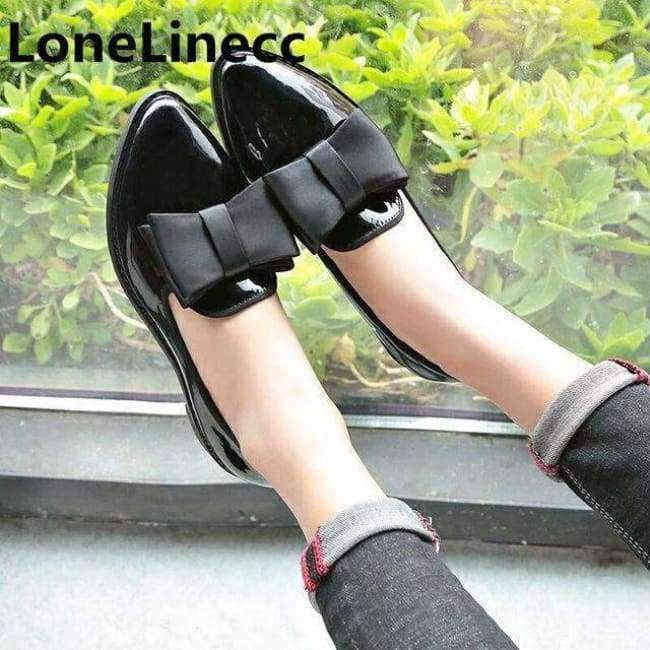 91d15d18a1c Genuine Leather Flat Shoes woman pointed toe With low Woman Loafers ...