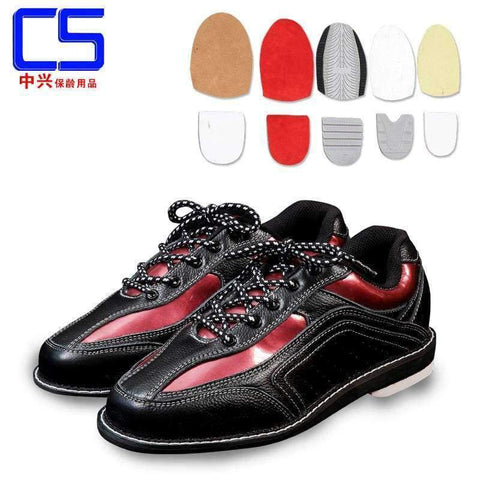 Planet Gates black / 5 Mens  Bowling Shoes with Interchangeable Soles/Heels Black/Blue SIZE 46