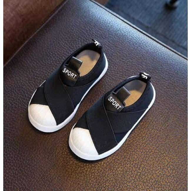 Planet Gates Black / 6.5 Fashion cool slip on Canvas children shoes high quality baby casual shoes breathable light slip on kids sneakers