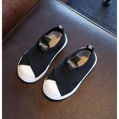 Image of Planet Gates Black / 6.5 Fashion cool slip on Canvas children shoes high quality baby casual shoes breathable light slip on kids sneakers
