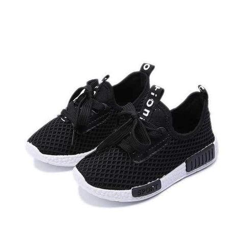 Planet Gates Black / 8.5 Spring Autumn Kids Shoes  Fashion Mesh Casual Children Sneakers For Boy Girl Toddler Baby Breathable Sport Shoe