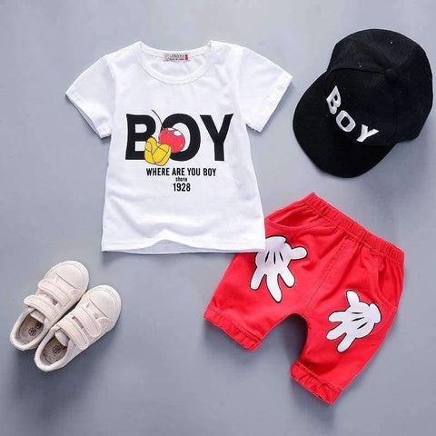 Planet Gates black / 9M Summer boys clothing set children T-shirt+pants kids 2pcs sport suits boys tracksuits costume teenage kids clothing boys set