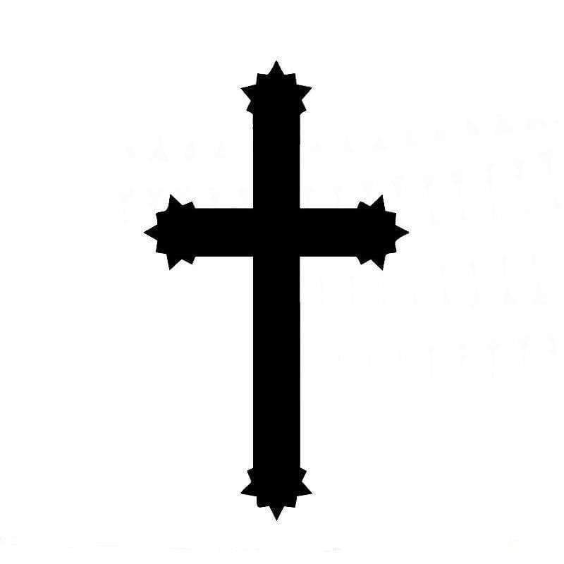 Planet Gates Black Car Sticker Jesus Cross Vinyl Adhesive Decal for Auto Decoration Christ Decal Motorcycle Exterior Accessories JDM