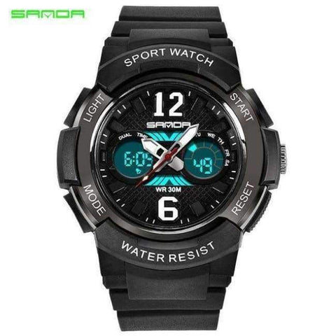 Planet Gates black Children's Watches LED Digital Watches Boys and Girls Students Multifunctional Waterproof Electronic Watch Relogio Masculino