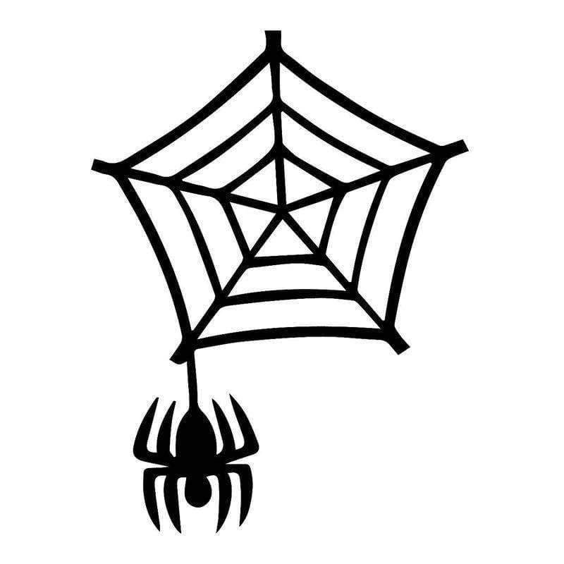 Planet Gates Black Decorative Spider Web Decals Amusing Vinyl Car Styling Animal Car Stickers Motorcycle Exterior Accessories JDM