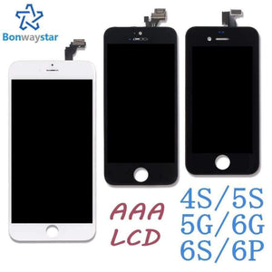 Planet Gates Black for ip4s LCD Display for iphone 6 5s 7 Screen Touch Digitizer Assembly LCD Screen For iphone 4s 5 6 plus Replacement Parts + tools