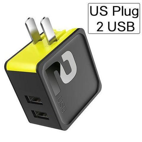 Planet Gates black green / US 2 USB Port ROCK Mobile Phone Charger 5V1A 5V2.4A Universal Travel Phone USB Charger, 124 USB Wall Charger for iPhone Adapter Clearance 49%