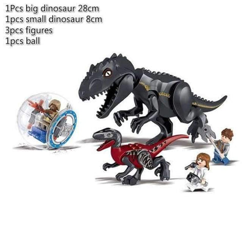 Planet Gates black Jurassic World 2 Dinosaur Building Blocks Legoings Jurassic Dinosaur Figures Bricks Tyrannosaurus Rex Indominus I-Rex Model Toys