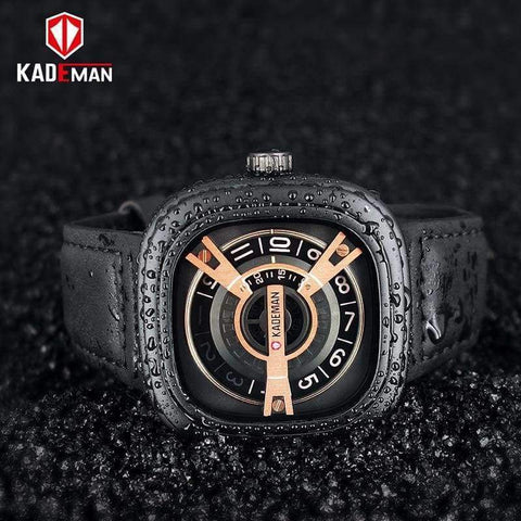 Planet Gates black KADEMAN Creative Watches Men Luxury Brand Quartz Watch Fashion Sports Reloj Hombre Waterproof Clock Male Watch Relogio Masculino