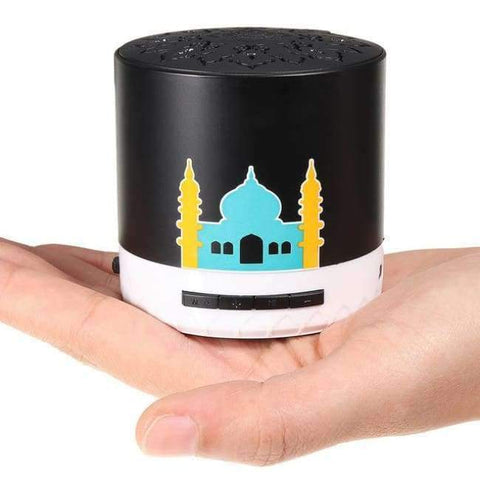 Planet Gates Black KINCO 8GB LED 7-Color Portable Holy Quran Speaker Islamic Muslim Player Remote 30 Languages Consumer Electronics