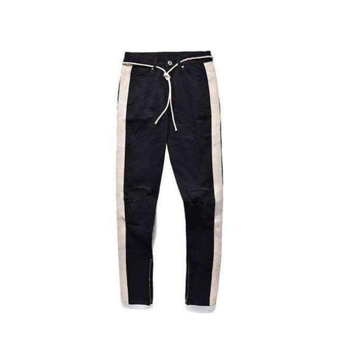 Planet Gates Black / M HEYGUYS 2018 fashion loose jeans Men Casual Trousers joint Fashion Fitted Bottoms zipper street wear hip hop straight jeans man
