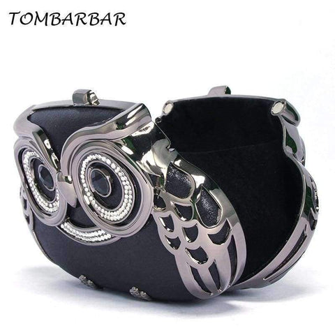 Image of Planet Gates Black / Mini TOMBARBAR Luxury Handbags Women Bags Designer Bolsa Feminina Mini Clutch Bag owl Evening Bags Women Messenger Bags TM-EB201605