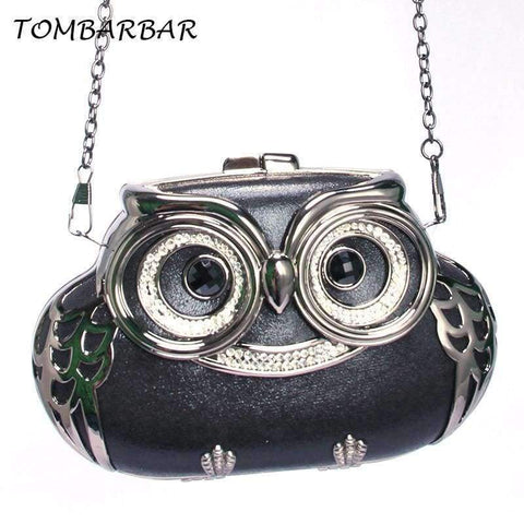 Planet Gates Black / Mini TOMBARBAR Luxury Handbags Women Bags Designer Bolsa Feminina Mini Clutch Bag owl Evening Bags Women Messenger Bags TM-EB201605