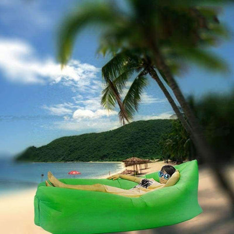 Image of Planet Gates black Modern Home furniture air gas folding sofa lazy sofa outdoor beach inflatable bed fast lunch break fast inflatable lazy sofa bed