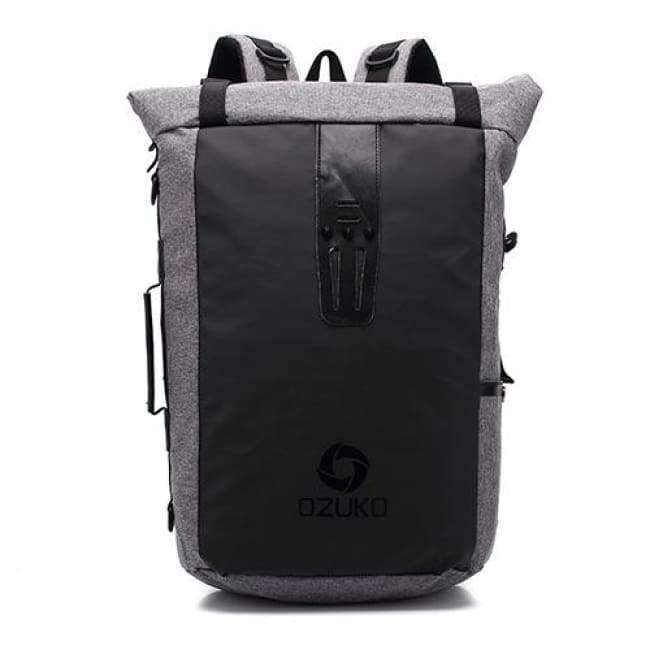 Planet Gates Black Ozuko New Multi-functional Casual Men Backpacks Travel Mochila Shoulder Bag Creative Male Waterproof Laptop Backpack School Bags