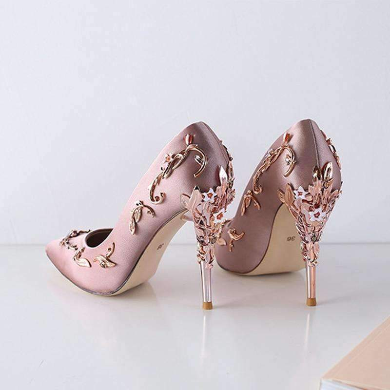 Planet Gates Black Pumps / 3.5 Baimier 2018 Luxury Brand Women Pumps Flower Heel Wedding Shoes Women Elegant Silk High Heels Women Shoes Plus Size 40 41 42