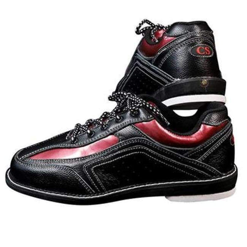 Planet Gates black red / 5 Mens  Bowling Shoes with Interchangeable Soles/Heels Black/Blue SIZE 46