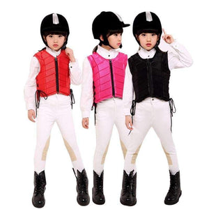 Planet Gates Black S Kids baby Safety Equestrian Horse Riding Vest Protective Body Protector Shock Absorption Jacket Sportswear Racing E $