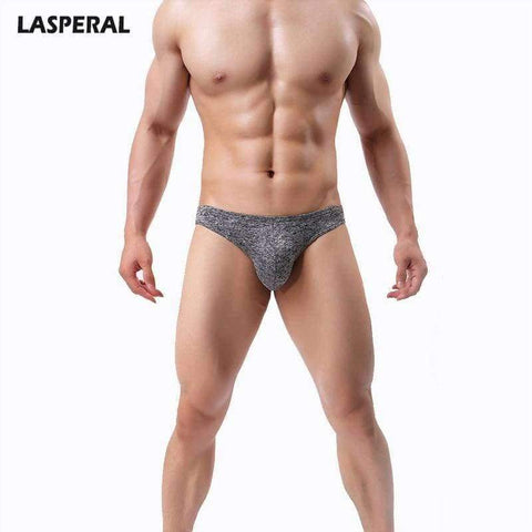 Planet Gates Black / S LASPERAL 1PC Solid Breathable Men Briefs U Convex Panties Underpants Underwear Sexy Thin Breathable Men Mid Waist Underwear
