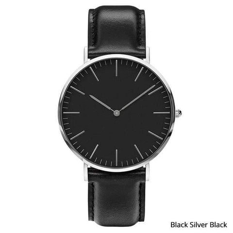 Image of Planet Gates Black silver black Mens Stainless Steel Bracelet Quartz Watch Fashion Rose Gold Silver Man Watch Style Men Dress Watch 40mm