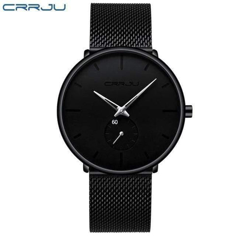 Planet Gates black silver Mens Watches Top Brand Luxury Quartz Watch Men Casual Slim Mesh Steel Waterproof Sport Watch Relogio Masculino