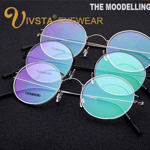 Planet Gates Black Titanium Glasses Men Screwless Business Oliver Ultralight Myopia Round Korean Moon