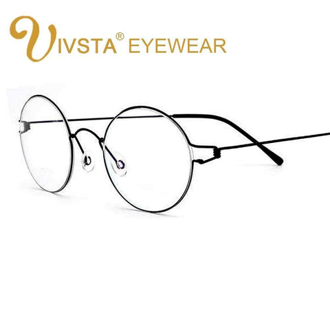 Titanium Glasses Men Screwless Business Oliver Ultralight Myopia Round Korean Moon
