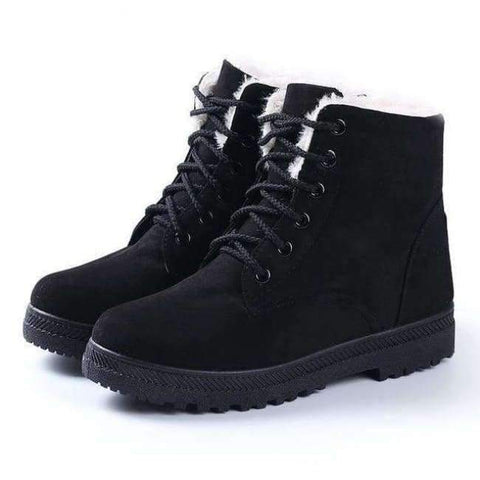 Image of Planet Gates Black1 / 4.5 Fashion warm snow boots 2018 heels winter boots new arrival women ankle boots women shoes warm fur plush Insole shoes woman