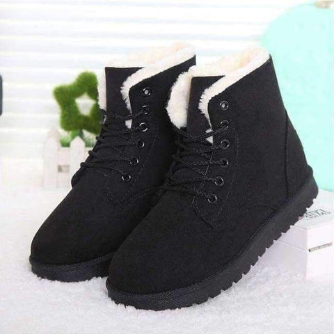 Image of Planet Gates Black2 / 4.5 Fashion warm snow boots 2018 heels winter boots new arrival women ankle boots women shoes warm fur plush Insole shoes woman